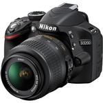 Nikon D3200 24.2 MP CMOS Digital Camera with 18-55mm and 18-200mm Lens-Black