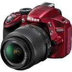 Nikon D3200 24.2 MP CMOS Camera Red with 18-55mm Lens and SB-700 Flash