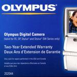 Olympus 2 Year Extended Warranty for Olympus Digital Cameras
