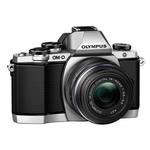 Olympus E-M10 16.1MP Micro Four Thirds Camera with 14-42mm R Lens-Silver
