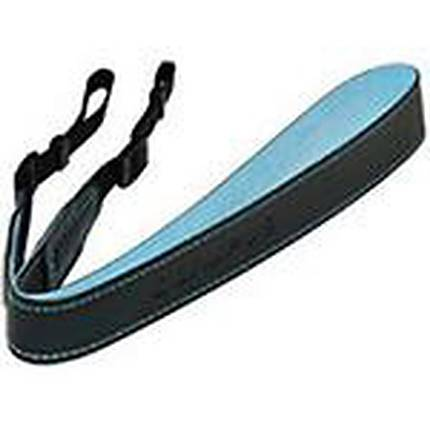Olympus Black Neck Strap With Blue Lining