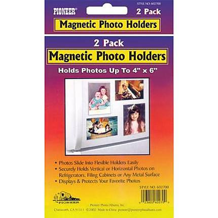Pioneer Photo Albums Plastic Magnetic Photo Holder (2 4x6 holders)