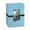 Pioneer Baby Embroidered Frame Fabric Photo Album (100 4x6 photos) - Blue