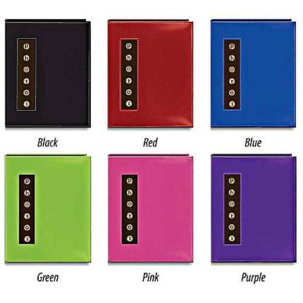 Pioneer Metal Button Sewn Brag Photo Album - Pink (36 4x6 photos)