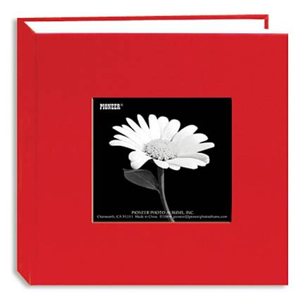 Pioneer 4 x 6 In. Fabric Frame Bi-Directional Photo Album (100 Photos) - Red
