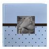 Pioneer 4x6 Baby Embroidered Frame Fabric Album (2-up) (200) (Blue)