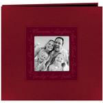 Pioneer Embossed Script Frame Photo Album (holds 200 4x6 photos) - Red