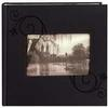 Pioneer Embossed Leatherette Frame Photo Album (200 4x6 photos)-Black Floral
