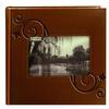 Pioneer Embossed Leatherette Frame Photo Album (200 4x6 photos)-Brown Floral