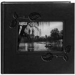 Pioneer Embossed Leatherette Frame Photo Album (200 4x6 photos) - Black Ivy