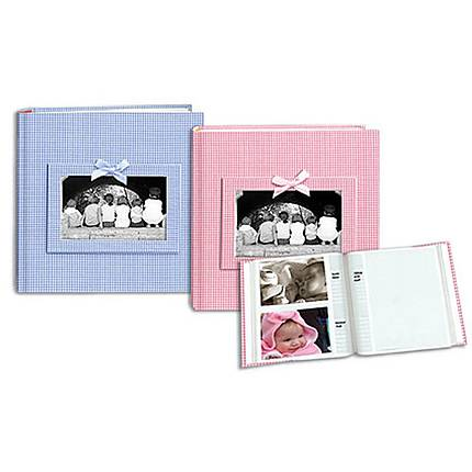 Pioneer 4 x 6 In. Gingham Frame Photo Album (200 Photos) - Assorted 4 Pack