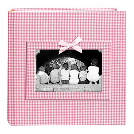 Pioneer 4 x 6 In. Gingham Frame Photo Album (200 Photos) - Pink