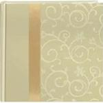 Pioneer Embroidered Scroll Fabric Ribbon Photo Album (200 4x6 photos)- White