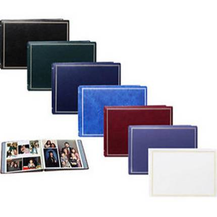 Pioneer Solid Cover Magnetic Photo Album (3 Ring 100 Photos)Assorted 12-Pack