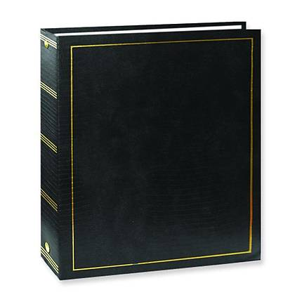 Pioneer Solid Cover Magnetic Photo Album (3 Ring 100 Photos) - Black