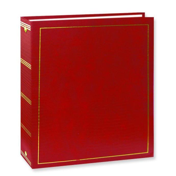 pioneer solid cover magnetic 3 ring photo album 100 photos red albums pioneer photo. Black Bedroom Furniture Sets. Home Design Ideas