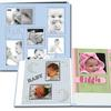 Pioneer Collage Frame Embossed Leatherette Baby Scrapbook (12x12) - Blue