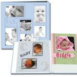 Pioneer Collage Frame Embossed Leatherette Baby Scrapbook (12x12) - Pink