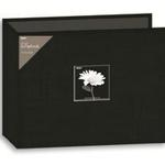 Pioneer 12X12 3-Ring Binder Fabric Frame Scrapbook - Black