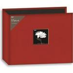 Pioneer 12X12 3-Ring Binder Fabric Frame Scrapbook - Red