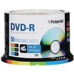 Polaroid DVD-R 4.7GB White Inkjet (Hub Printable) Print Spindle 50 Pack