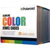 Polaroid CD-R/DVD Slim Case 25 Pack Color
