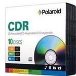 Polaroid CD-R 10 Pack Multi-Purpose Data Ready 52x Jewl Cases