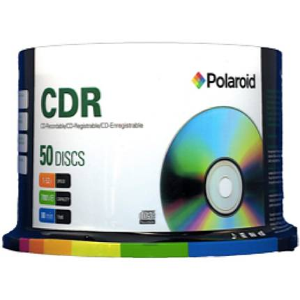 Polaroid CD-R 80 Data 52X (50 Pack) Non-Printable