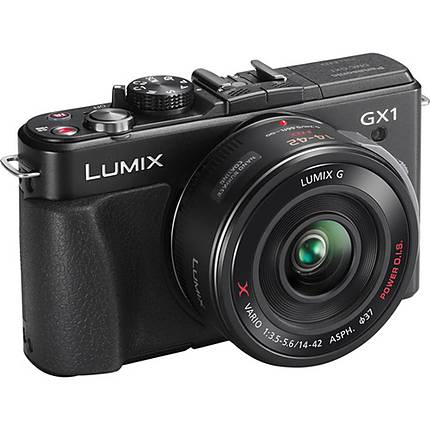 Panasonic Lumix DMC-GX1XK 16 MP Micro Four Thirds W/14-42mm X Power Zoom-SLV
