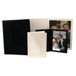 Unique Photomounts 5x7 Black SR Slip Folder (25)