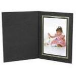 Unique Photomounts 8x10 Black Classic Square Folder (25)