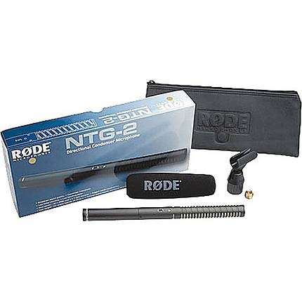 Rode NTG-2 Battery or Phantom Powered Condenser Shotgun Microphone