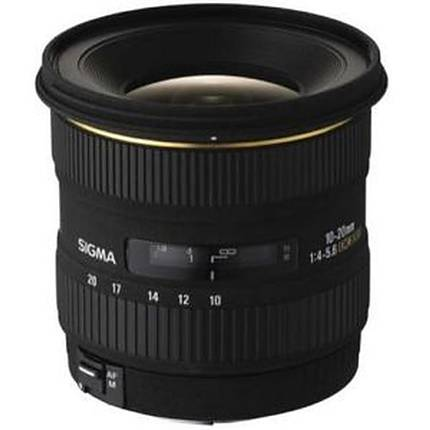 Sigma EX DC (HSM) 10-20mm f/4-5.6 Wide Angle Zoom Lens for Canon - Black