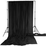 Savage Accent Muslin Background Kit 10x24 - Black