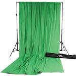 Savage Accent Muslin Background Kit 10x24 - Chroma Green