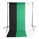 Savage Economy Background Support Stand with White, Black and Chroma Green