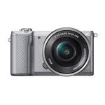 Sony Alpha a5000 20.1MP Camera with 16-50mm-Silver and 55-210mm Lens