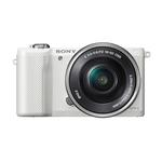 Sony Alpha a5000 20.1MP Mirrorless Camera with 16-50mm-White  and  55-210mm Lens