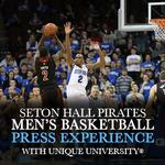 Capture the Seton Hall Pirates Mens Basketball (Press Experience)