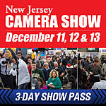 New Jersey Camera Show 3-Day Show Pass: December 11th, 12th, 13th