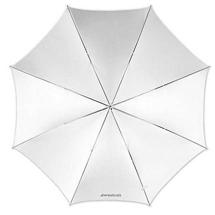 Westcott 43 Inch Optical White Satin Collapsible Umbrella