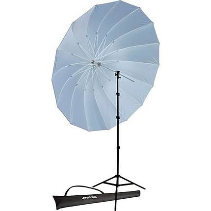 Westcott 7ft White/Black Parabolic Umbrella Kit W/ 8ft Stand/ Bracket