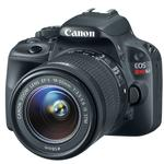 Canon EOS Rebel SL1 18 MP CMOS Camera with 18-55mm and 55-250mm Lens-Black