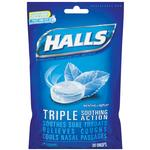 Halls Cough Drops Menthol Bag of 30 Drops in a Resealable Bag